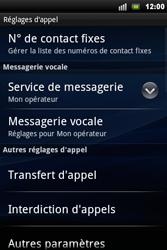 Sony Xperia Mini Pro - Messagerie vocale - Configuration manuelle - Étape 5