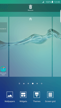 Samsung Galaxy S6 edge+ (G928F) - Getting started - Installing widgets and applications on your start screen - Step 4