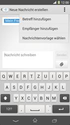 Sony Xperia Z1 - MMS - Erstellen und senden - 14 / 22