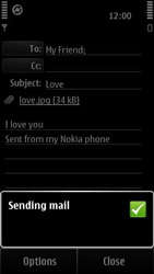 Nokia 500 - Email - Sending an email message - Step 13
