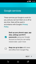 HTC One M9 - Applications - Setting up the application store - Step 13