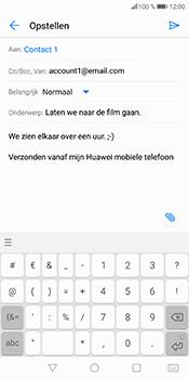 Huawei P Smart (Model FIG-LX1) - E-mail - Bericht met attachment versturen - Stap 11
