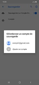 Samsung Galaxy A20e - Données - créer une sauvegarde avec votre compte - Étape 9