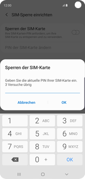 Samsung Galaxy S10 - Startanleitung - So aktivieren Sie eine SIM-PIN - Schritt 8
