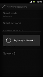 Sony Xperia U - Network - Manual network selection - Step 10