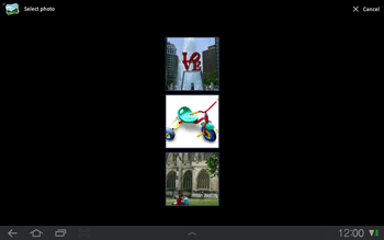 Samsung P7500 Galaxy Tab 10-1 - MMS - Sending pictures - Step 9