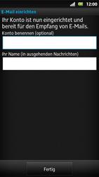 Sony Xperia Sola - E-Mail - Konto einrichten - Schritt 16