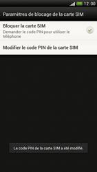 HTC One S - Sécuriser votre mobile - Personnaliser le code PIN de votre carte SIM - Étape 10