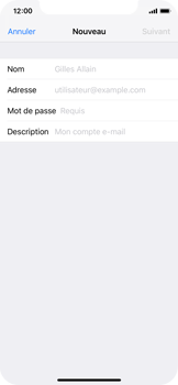 Apple iPhone X - iOS 12 - E-mail - Configuration manuelle - Étape 7