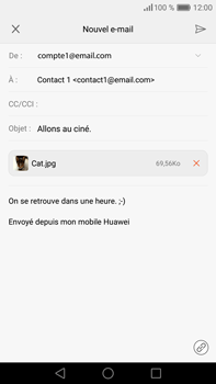 Huawei P9 Plus - E-mail - envoyer un e-mail - Étape 15