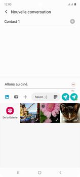 Samsung Galaxy Note 10 Lite - Contact, Appels, SMS/MMS - Envoyer un MMS - Étape 15