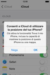 Apple iPhone 4S iOS 7 - Applicazioni - Configurazione del servizio Apple iCloud - Fase 9