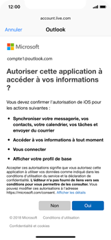 Apple iPhone X - iOS 12 - E-mail - Configuration manuelle (outlook) - Étape 8