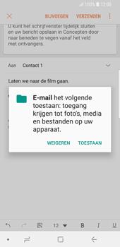 Samsung Galaxy S9 - e-mail - hoe te versturen - stap 12