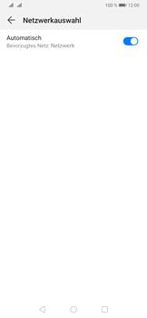 Huawei P30 - Netzwerk - Manuelle Netzwerkwahl - Schritt 6