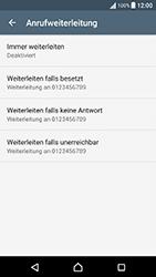 Sony Xperia X Performance - Anrufe - Rufumleitungen setzen und löschen - 6 / 9