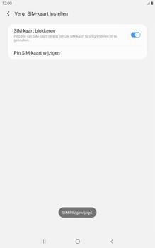 Samsung galaxy-tab-a-8-0-lte-2019-sm-t295 - Beveiliging en ouderlijk toezicht - Hoe wijzig ik mijn SIM PIN-code - Stap 11