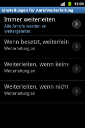 Samsung S5690 Galaxy Xcover - Anrufe - Rufumleitungen setzen und löschen - Schritt 8