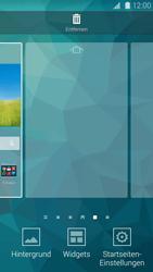 Samsung Galaxy S 5 - Startanleitung - Installieren von Widgets und Apps auf der Startseite - Schritt 4