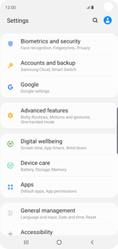 Settings & Tech specs | How to use Device care