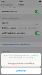 Apple iPhone 6 met iOS 9 (Model A1586) - Privacy - Cookies en geschiedenis wissen - Stap 5