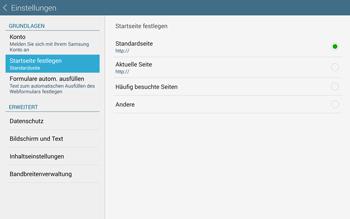 Samsung T805 Galaxy Tab S - Internet und Datenroaming - Manuelle Konfiguration - Schritt 21