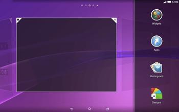 Sony Xperia Tablet Z2 LTE - Startanleitung - Installieren von Widgets und Apps auf der Startseite - Schritt 4