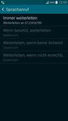 Samsung Galaxy Alpha - Anrufe - Rufumleitungen setzen und löschen - 10 / 11