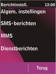 Nokia C2-03 - SMS - Handmatig instellen - Stap 5