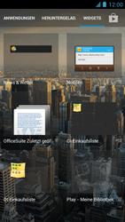 Alcatel One Touch Idol - Startanleitung - Installieren von Widgets und Apps auf der Startseite - Schritt 4