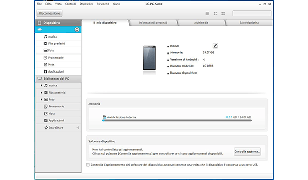 LG G3 - Software - Come eseguire un backup del dispositivo - Fase 11