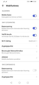Huawei P30 Lite - Internet und Datenroaming - Deaktivieren von Datenroaming - Schritt 5
