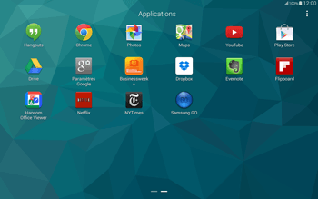 Samsung T805 Galaxy Tab S - Applications - Installation d