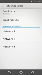 Sony Xperia Z3 Compact - Network - Manual network selection - Step 8