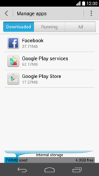 Huawei Ascend P6 - Applications - How to uninstall an app - Step 5