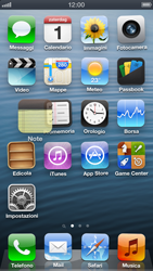 Apple iPhone 5 - Operazioni iniziali - Personalizzazione della schermata iniziale - Fase 3