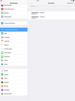 Apple iPad Pro 12.9 inch - iOS 11 - Anmeldedaten hinzufügen/entfernen - 9 / 12