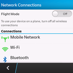 BlackBerry Q10 - Network - Manual network selection - Step 5