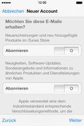 Apple iPhone 4 S mit iOS 7 - Apps - Konto anlegen und einrichten - Schritt 28