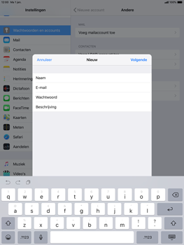 Apple ipad-pro-10-5-inch-ios-12 - E-mail - Account instellen (IMAP zonder SMTP-verificatie) - Stap 9