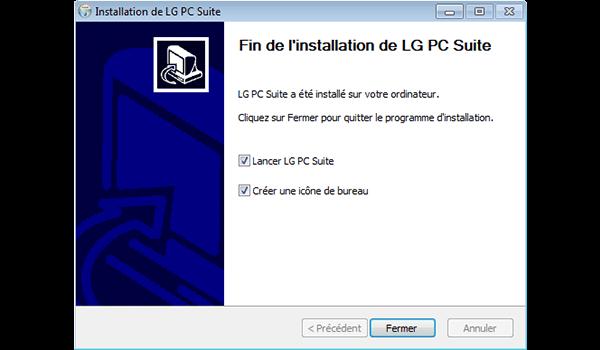 LG Spirit 4G - Logiciels - Installation du logiciel de synchronisation PC - Étape 10