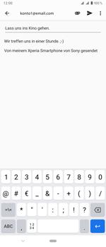 Sony Xperia 1 - E-Mail - E-Mail versenden - Schritt 10