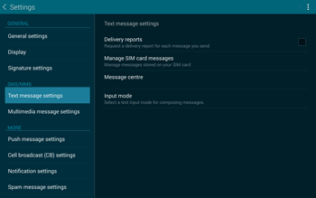 Samsung T805 Galaxy Tab S - SMS - Manual configuration - Step 7