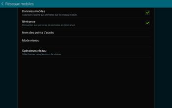 Samsung T805 Galaxy Tab S - Internet et roaming de données - Désactivation du roaming de données - Étape 6