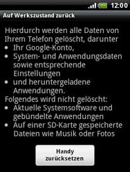 HTC Wildfire - Fehlerbehebung - Handy zurücksetzen - 8 / 10