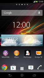 Sony Xperia V - Startanleitung - Installieren von Widgets und Apps auf der Startseite - Schritt 6