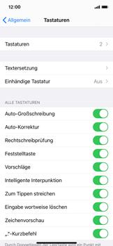 Apple iPhone 11 Pro - iOS 14 - Startanleitung - So fügen Sie eine Tastatursprache hinzu - Schritt 5