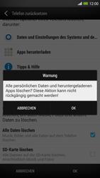 HTC One Max - Gerät - Zurücksetzen auf die Werkseinstellungen - Schritt 7