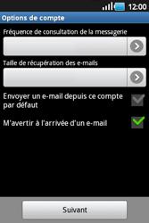 Samsung S5660 Galaxy Gio - E-mail - Configurer l