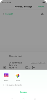 Oppo Reno 2Z - Contact, Appels, SMS/MMS - Envoyer un MMS - Étape 17